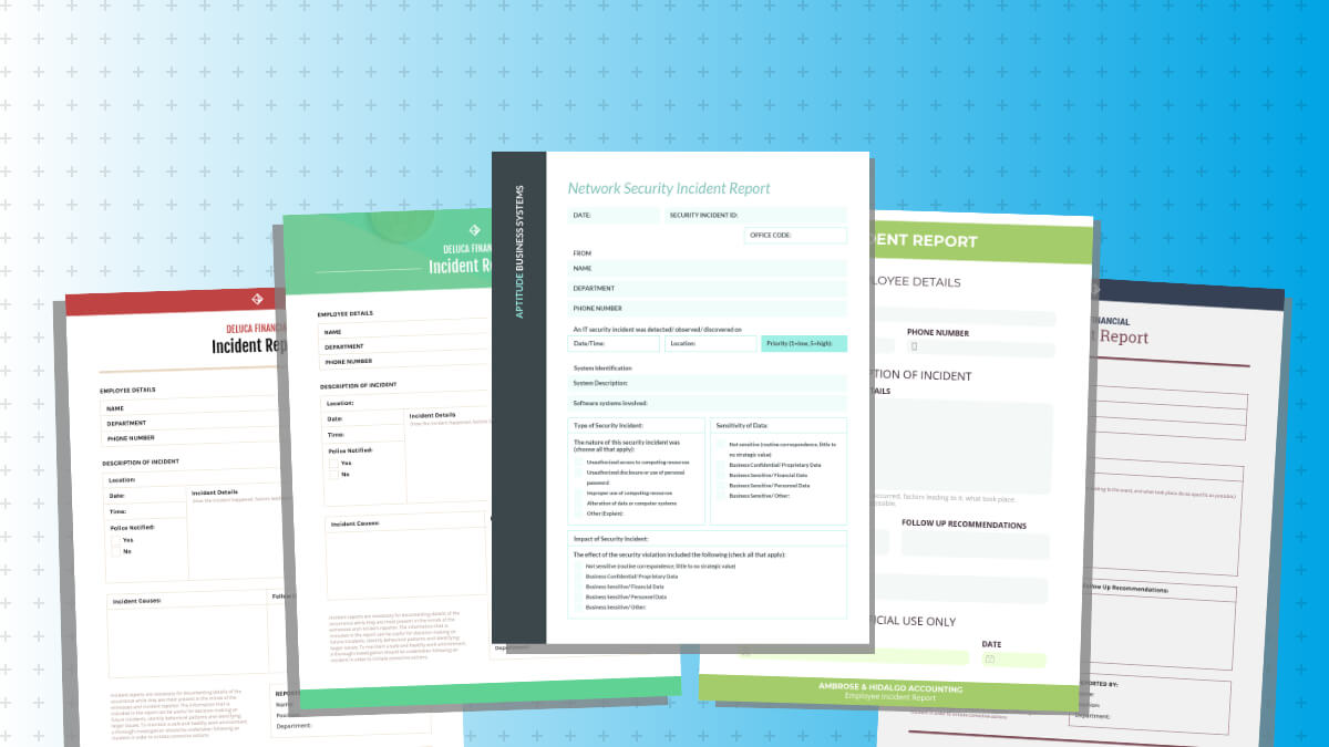 How To Write An Effective Incident Report [Examples + For Post Event Evaluation Report Template