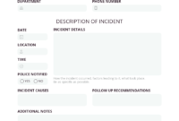 How To Write An Effective Incident Report [Examples + in Monthly Health And Safety Report Template