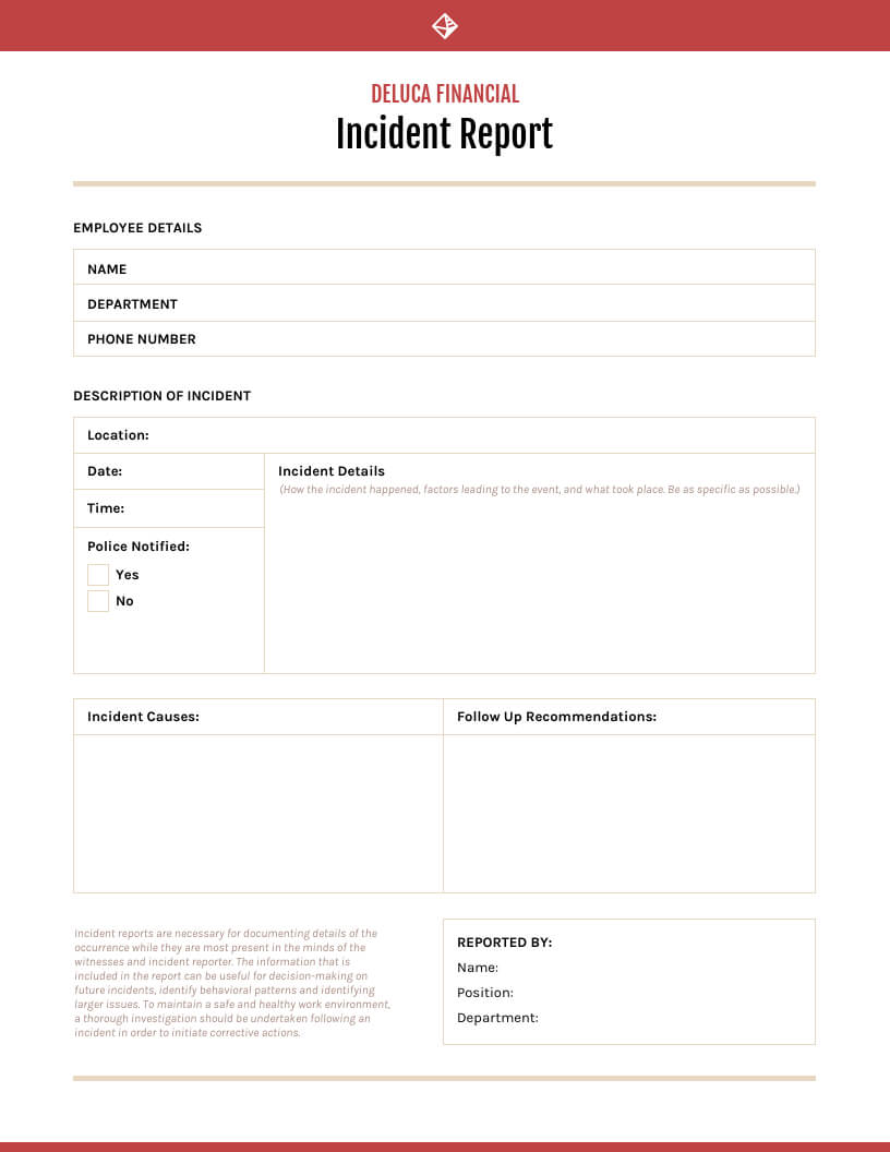 How To Write An Effective Incident Report [Examples + Intended For Health And Safety Incident Report Form Template