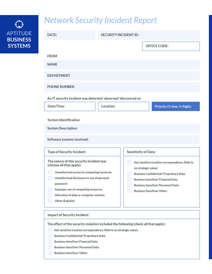 How To Write An Effective Incident Report [Examples + Regarding It Incident Report Template