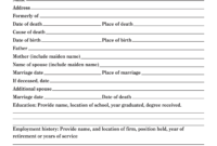 How To Write An Obituary Template In Simple Steps | How To Wiki In Fill In The Blank Obituary Template