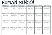 Human Bingo Cards throughout Ice Breaker Bingo Card Template