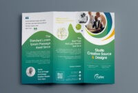 Hypnosis Professional Tri-Fold Brochure Template 001203 for 3 Fold Brochure Template Psd