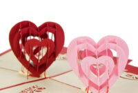 "I Love You"" Red Heart Design Handmade Creative Kirigami in I Love You Pop Up Card Template"