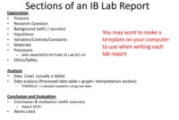 Ib Biology Lab Report Guidelines – Ppt Download inside Ib Lab Report Template