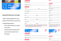 Ice Cards – Fill Online, Printable, Fillable, Blank | Pdffiller in In Case Of Emergency Card Template