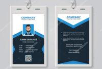 Id Card Design Template — Stock Vector © Bonezboyz #259442500 With Regard To Photographer Id Card Template