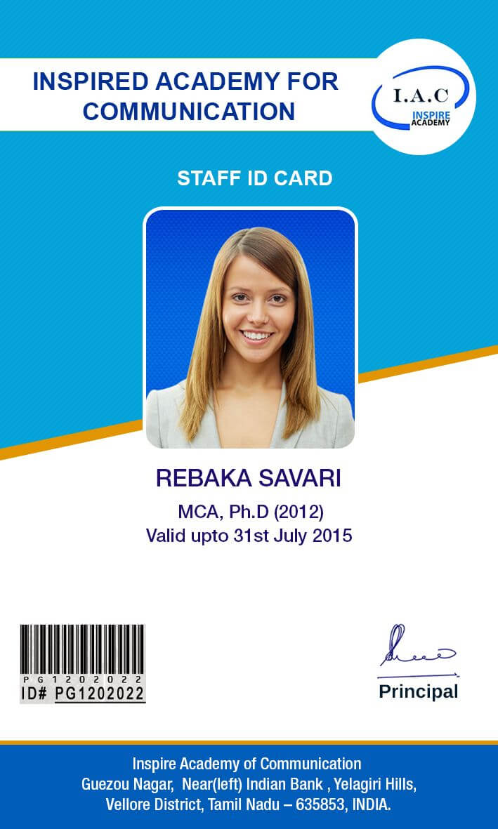 Id Card Designs | Id Card Template, School Id, Business Card In Pvc Id Card Template