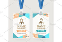 Id Card Template Plastic Badge Id Card Template Abstract within Conference Id Card Template