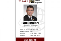 Id Card Template Recent Visualize 1 Front Of Id Employee 232 with regard to Employee Card Template Word