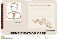 Identification Card For Non-Positive Staff Stock Vector with Mi6 Id Card Template