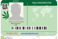 Identification Card Patient Marijuana Stock Vector regarding Mi6 Id Card Template