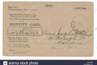 Identity Card Cut Out Stock Images & Pictures – Alamy pertaining to World War 2 Identity Card Template