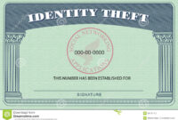 Identity Theft Card Stock Illustration. Illustration Of in Social Security Card Template Free