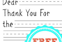If You Are Looking For A Fun Way To Help Your Kids Write inside Free Printable Thank You Card Template