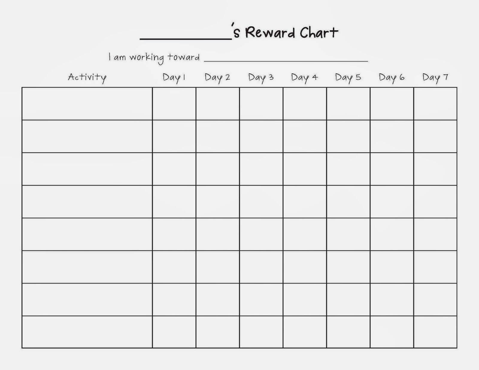 Image Result For Blank Sticker Charts | Reward Chart Inside Blank Reward Chart Template