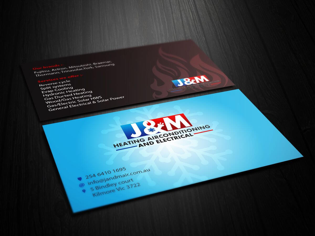 Image Result For Business Card Ideas For Hvac And Electrical Within Hvac Business Card Template