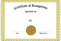 Image Result For Certificate | Gift Certificate Template within Blank Award Certificate Templates Word
