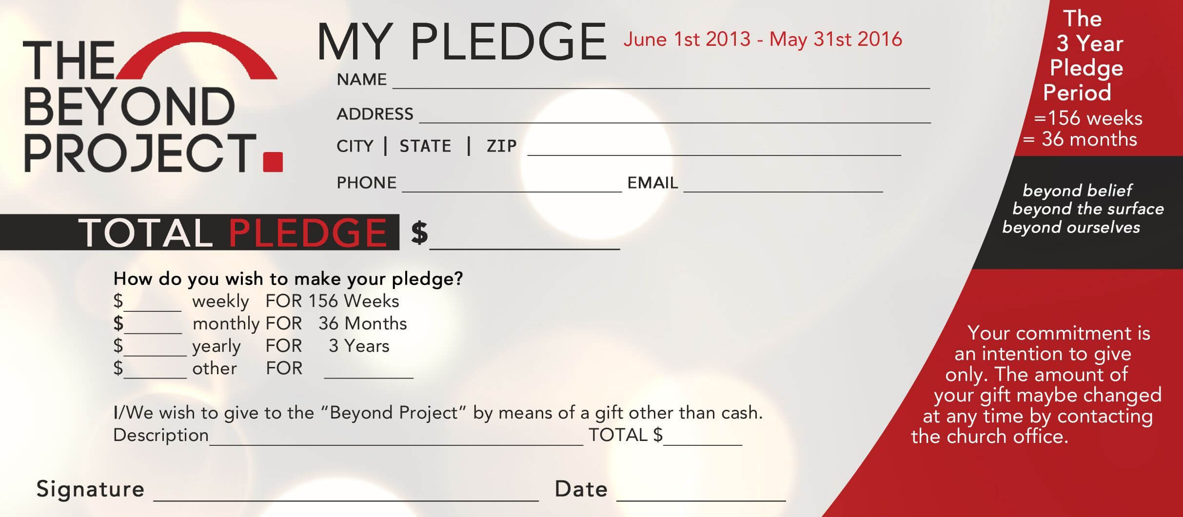 Image Result For Pledge Cards | Free Business Card Templates With Regard To Pledge Card Template For Church