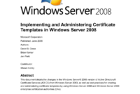 Implementing And Administering Certificate Templates throughout Active Directory Certificate Templates