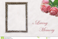 In Memory Cards Templates ] – Memory Template 4 Celebration pertaining to In Memory Cards Templates