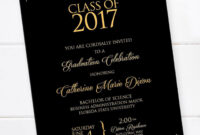 Incredible Free Graduation Invitation Templates Template regarding Free Graduation Invitation Templates For Word