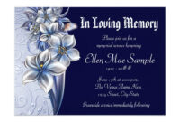 Incredible Funeral Invitation Template Free Ideas Reception intended for Funeral Invitation Card Template