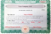 Incredible Llc Membership Certificate Template Ideas Free within New Member Certificate Template