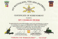 Index Of /images/awards for Certificate Of Achievement Army Template
