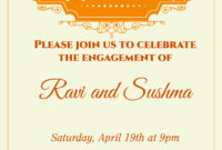 Indian Engagement Invitation Card With Wordings Check It Out with regard to Engagement Invitation Card Template