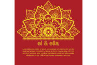 Indian Wedding Card Template – Download Free Vectors intended for Indian Wedding Cards Design Templates
