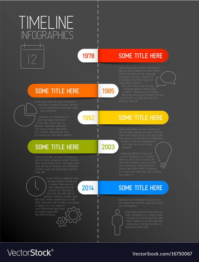 Infographic Dark Timeline Report Template With Throughout Rma Report Template