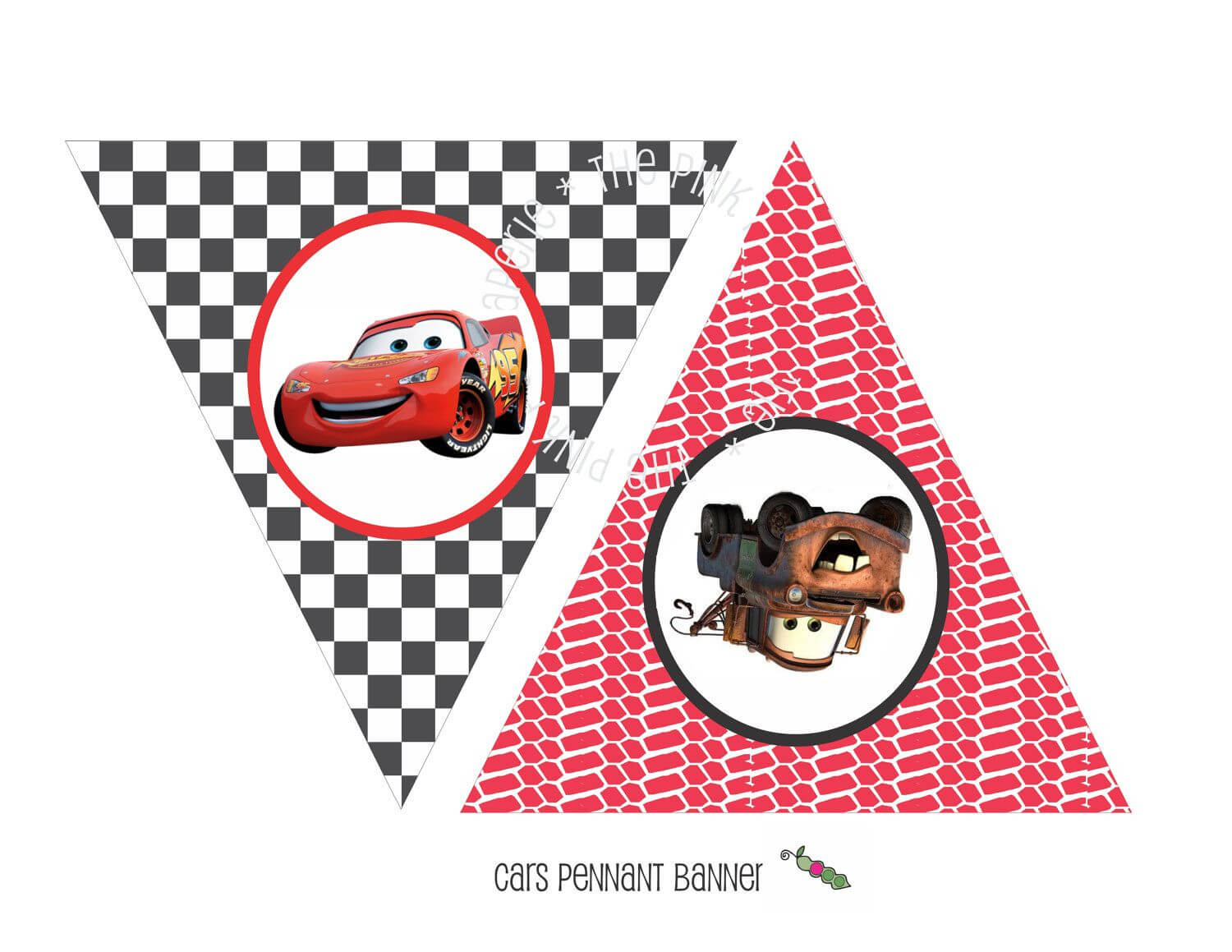 Instant Download - Printable Cars Themed Happy Birthday Intended For Cars Birthday Banner Template