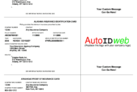 Insurance Card Template – Fill Online, Printable, Fillable inside Proof Of Insurance Card Template