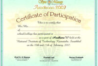International Conference Certificate Templates – Shev with Certificate Of Participation Template Pdf