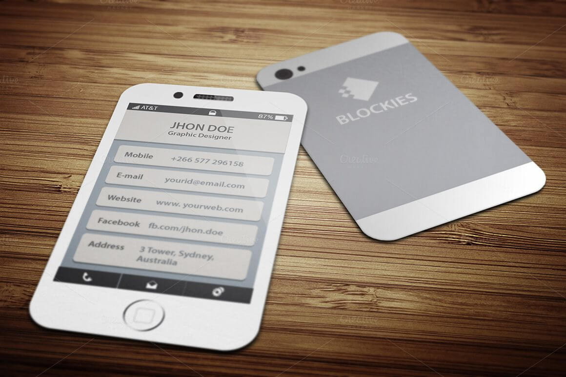 Iphone 6 (35% Off) Business Cardjigsawlab On For Iphone Business Card Template