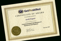 Iq Oq Pq Training Course – Retrain Online For Starter in Iq Certificate Template