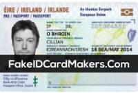 Ireland Id Card Template Psd [Irish Proof Of Identity] for Georgia Id Card Template