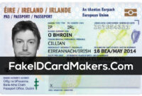 Ireland Id Card Template Psd [Irish Proof Of Identity] pertaining to Florida Id Card Template