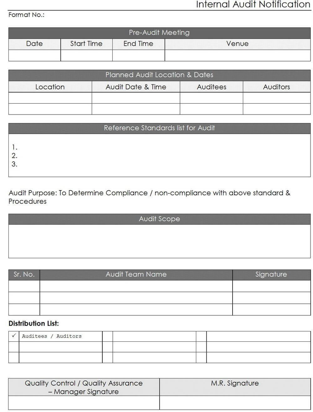 Iso Internal Audit Report Template | Internal Audit, Report Within Internal Audit Report Template Iso 9001