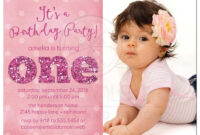 Ist Birthday Party Photo Invitations – Sparkle One | 1St pertaining to First Birthday Invitation Card Template