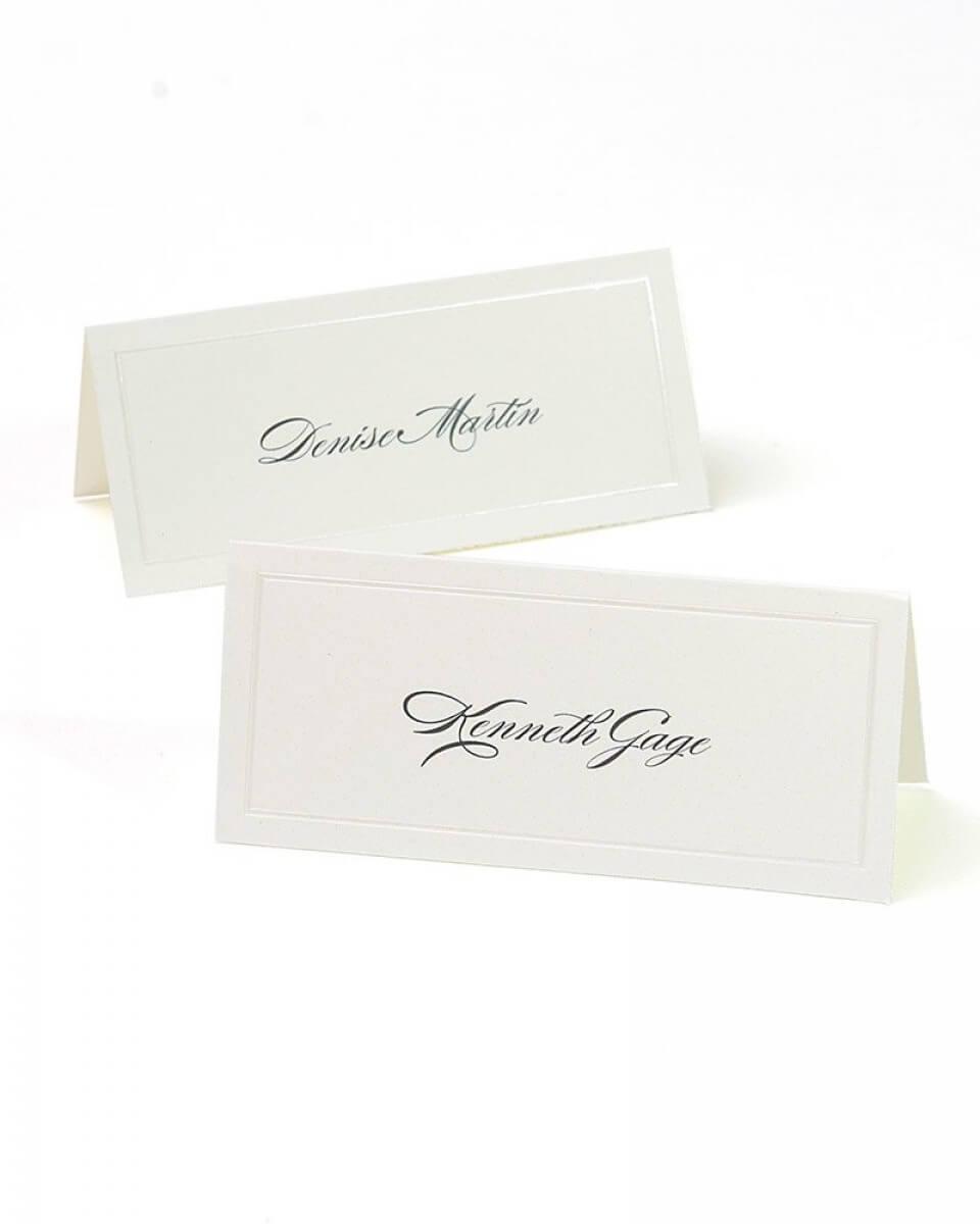 Ivory Pearl Border Printable Place Cards Regarding Gartner Studios Place Cards Template