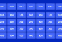Jeopardy Game Powerpoint Templates inside Quiz Show Template Powerpoint