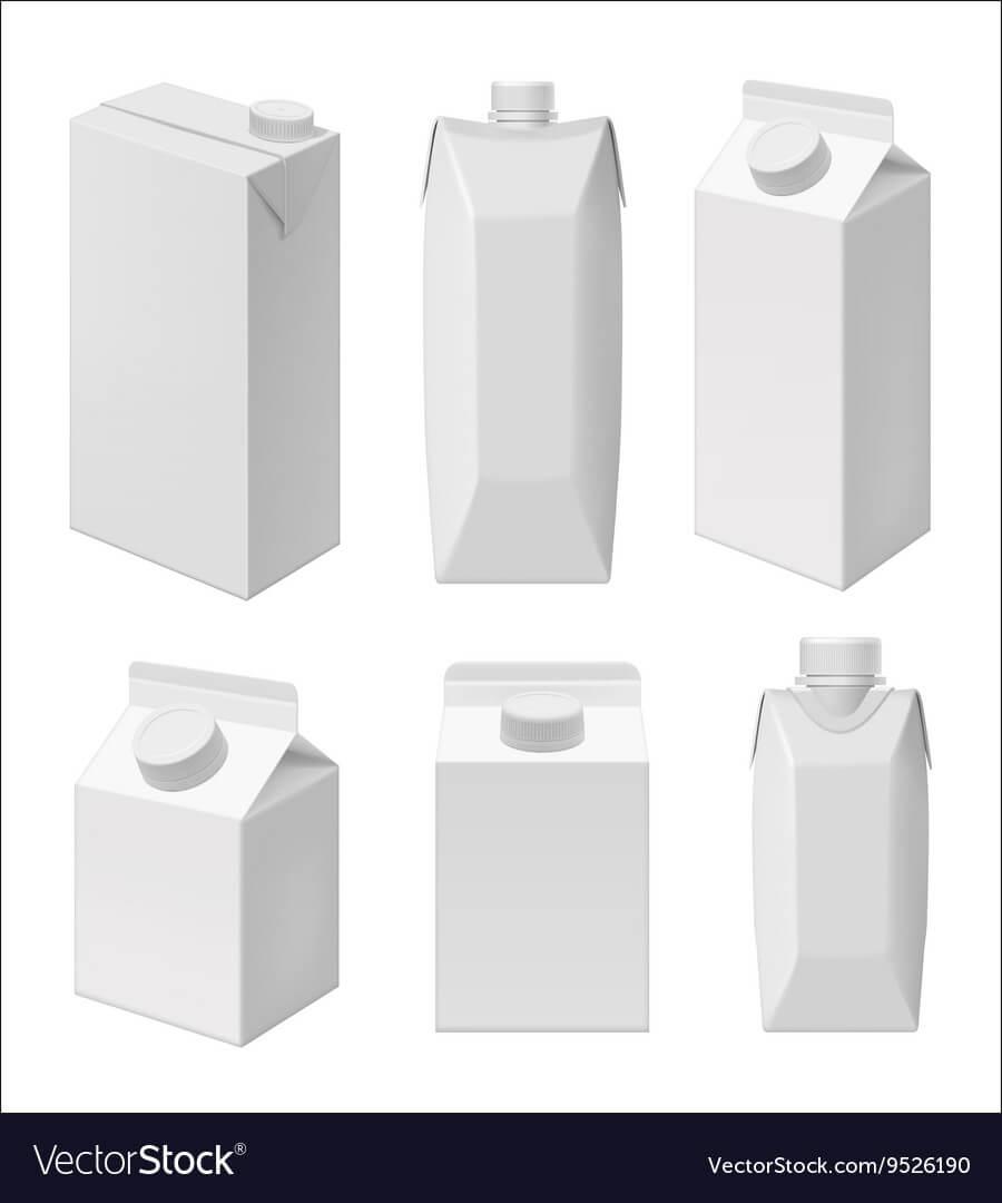 Juice And Milk Blank Packaging Template Pertaining To Blank Packaging Templates