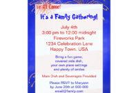 July 4Th Family Reunion Invitation | Zazzle | Reunion pertaining to Reunion Invitation Card Templates