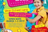 Junior School Admission Flyer | School Advertising, School regarding Play School Brochure Templates