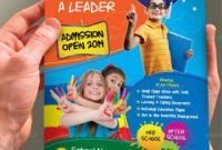 Junior School Admission Flyer Template | School Admissions throughout Play School Brochure Templates