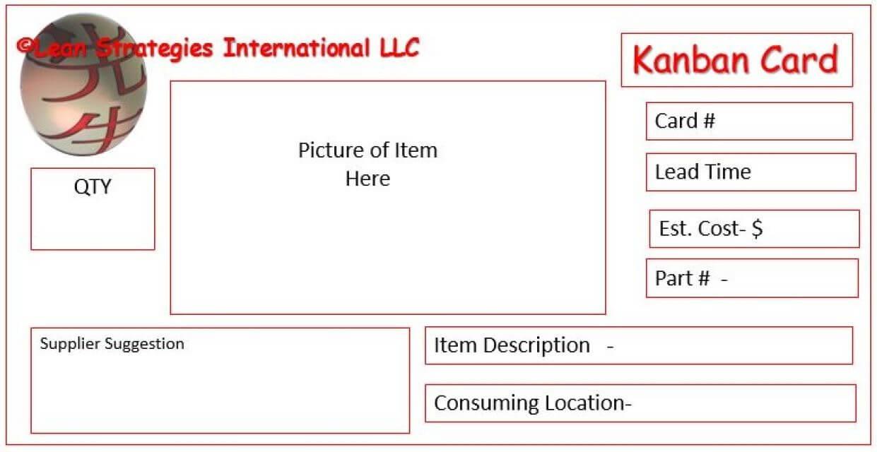 Kanban Card Templates | Kanban Cards, Lean Six Sigma, Cards Within Kanban Card Template