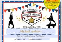 Karate Certificates Templates Free ] – Modern Certificate with Gymnastics Certificate Template
