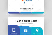 Kids Channel, Business Card Design Template, Visiting For inside Id Card Template For Kids